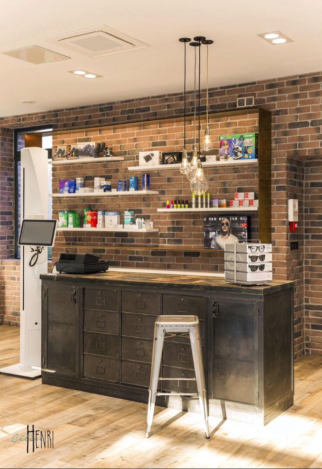 comptoirs agencement de magasin au style industriel. Black Bedroom Furniture Sets. Home Design Ideas