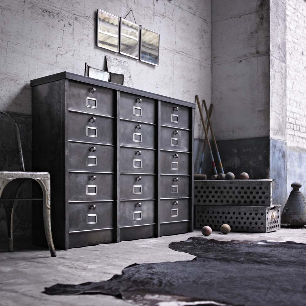 meuble de salon industriel. Black Bedroom Furniture Sets. Home Design Ideas
