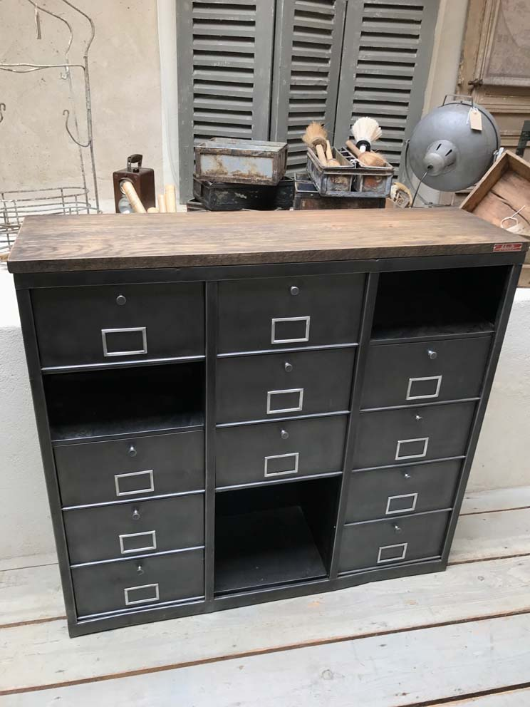meuble metal bois awesome meuble industriel tv style. Black Bedroom Furniture Sets. Home Design Ideas