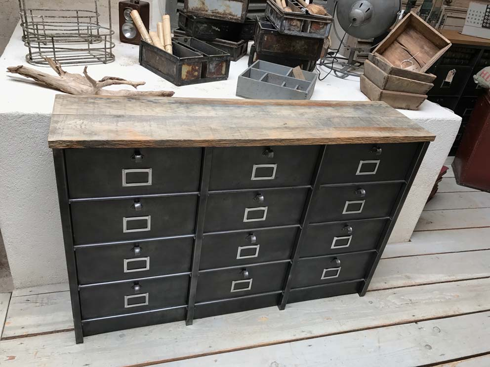 meubles de rangement industriel m tal bois