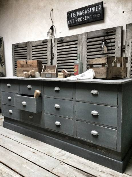 meubles de rangement industriel m tal bois. Black Bedroom Furniture Sets. Home Design Ideas