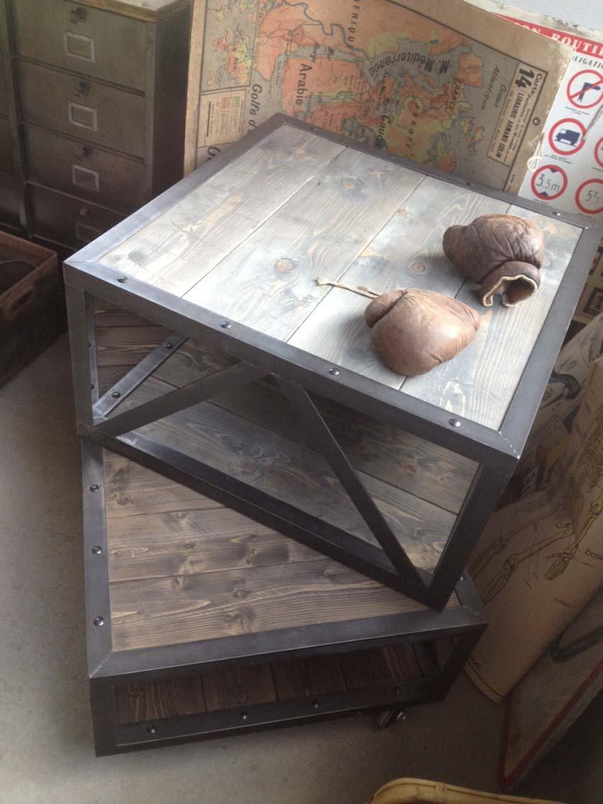 Tables Basses Mobilier Industriel L Or Du Temps # Tables Basses Pour Tv