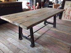 tables industrielles l 39 or du temps mobilier industriel. Black Bedroom Furniture Sets. Home Design Ideas