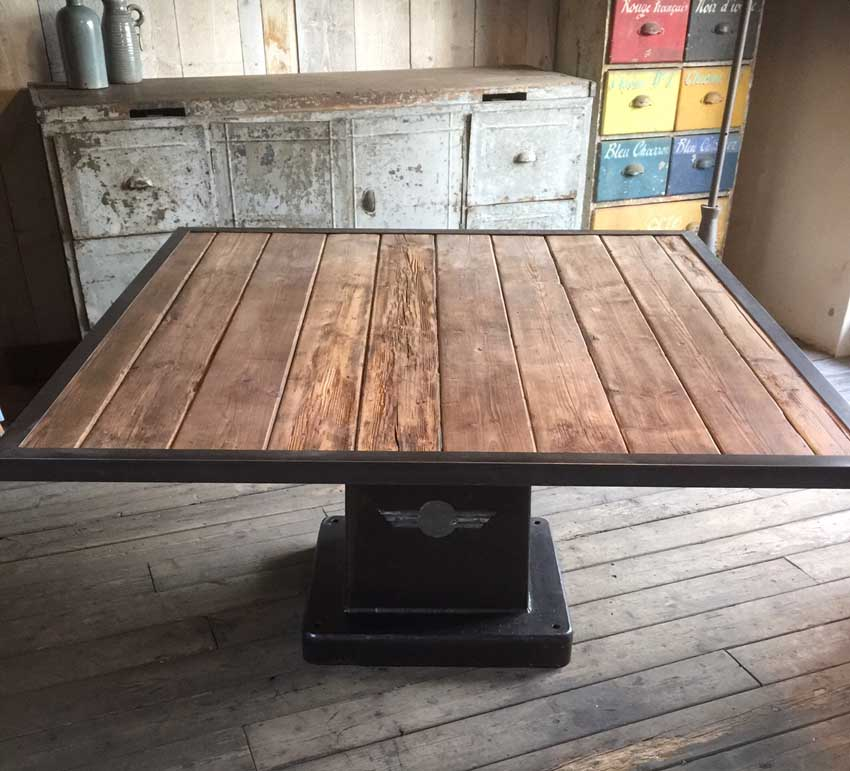 Tables Industrielles L 39 Or Du Temps Mobilier Industriel