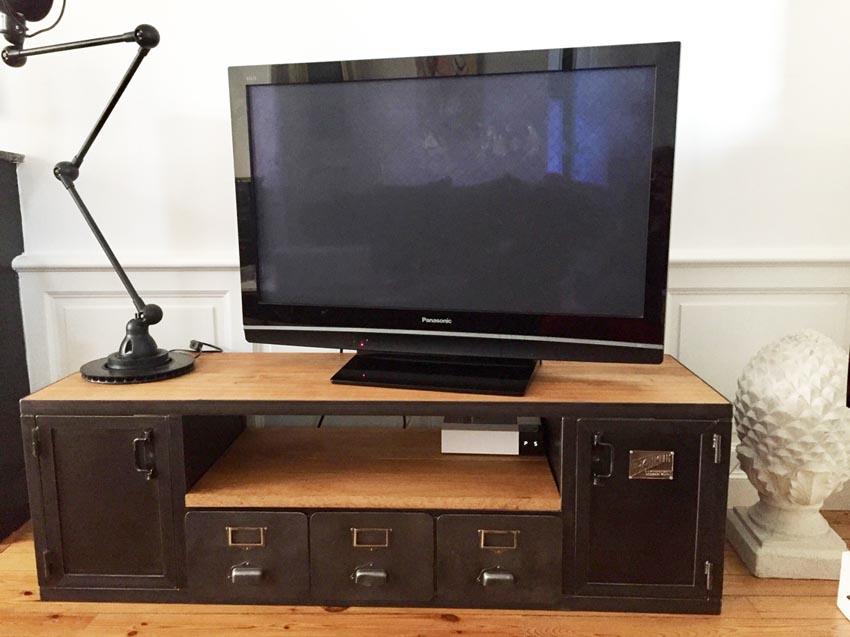 b46187779dbca Meubles TV industriel bois et métal - L'or du Temps