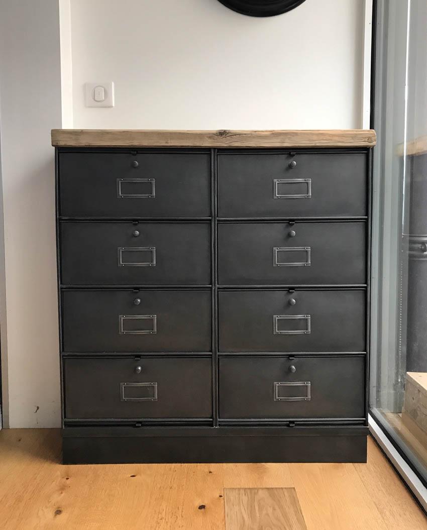 Meuble D Entrée Industriel meubles de rangement industriel métal bois