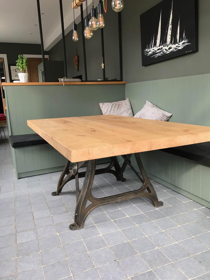 Petit Etabli Bois Ancien tables industrielles - l'or du temps mobilier industriel